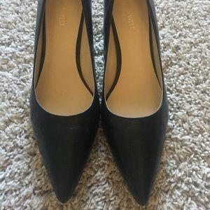 """Nine West 3"""" black heels"""